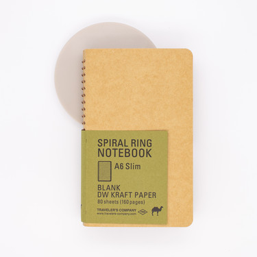 Traveler's Company Spiral Ring Notebook A6 Slim Kraft Paper