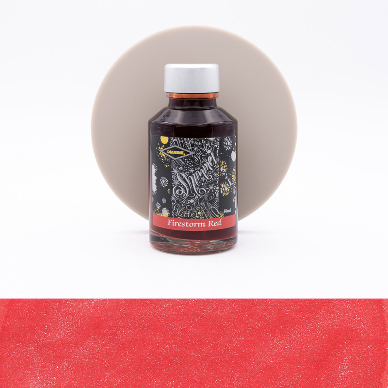 Diamine Shimmering Firestorm Red Inchiostro 50 ml