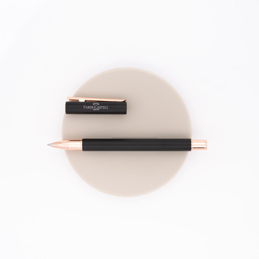 Faber Castell Neo Slim Rollerball Pen Black & Rose Gold