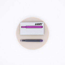 Lamy T10 Violet 5 Ink Cartridges