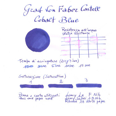 Graf von Faber Castell Cobalt Blue 6 Ink Cartridges