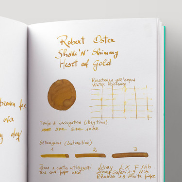 Robert Oster Shake 'N' Shimmy Heart of Gold Inchiostro 50 ml