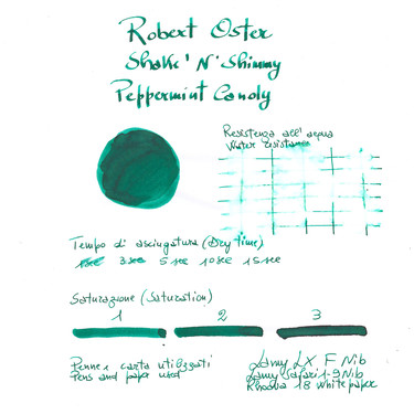 Robert Oster Shake 'N' Shimmy Peppermint Candy Inchiostro 50 ml