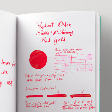 Robert Oster Shake 'N' Shimmy Red Gold Inchiostro 50 ml