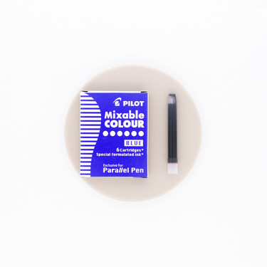 Pilot Mixable Colour Blue 6 Ink Cartridges for Parallel Pen