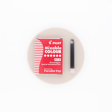 Pilot Mixable Colour Rosso 6 Ink Cartridges per Parallel Pen