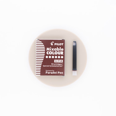 Pilot Mixable Colour Sepia 6 Ink Cartridges for Parallel Pen