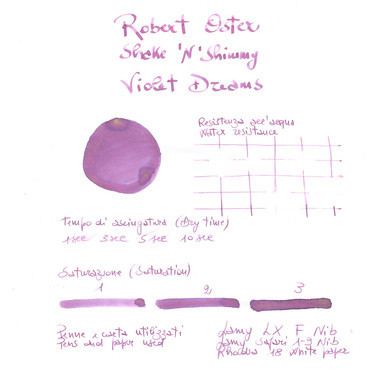 Robert Oster Shake 'N' Shimmy Violet Dreams Inchiostro 50 ml