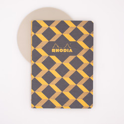 Rhodia Heritage Notebook A5 Lined Escher Black