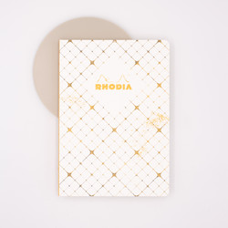 Rhodia Heritage Notebook A5 Grid Checkered White