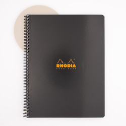 Rhodia Wirebound Notebook A4+ Lined Black