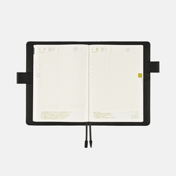 Hobonichi Techo Cousin A5 Leather: TS Basic Black Set Cover + 2020 Diary