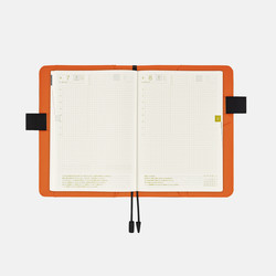 Hobonichi Techo Cousin A5 Black x Orange Set Cover + 2020 Diary