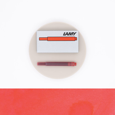 Lamy T10 Red 5 Ink Cartridges
