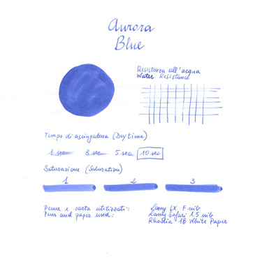 Aurora Blue Ink Bottle 45 ml