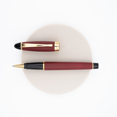Aurora Ipsilon Satin Rollerball Pen Red Rose Gold