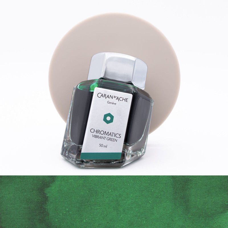 Caran d'Ache Vibrant Green Ink Bottle 50 ml