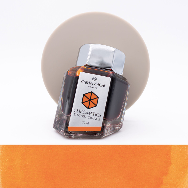 Caran d'Ache Electric Orange Ink Bottle 50 ml