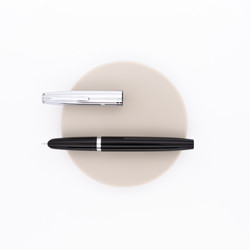 Aurora Duo Cart Fountain Pen Black