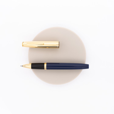 Aurora Duo Cart Rollerball Pen Blue & Gold