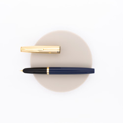 Aurora Duo Cart Fountain Pen Blue & Gold