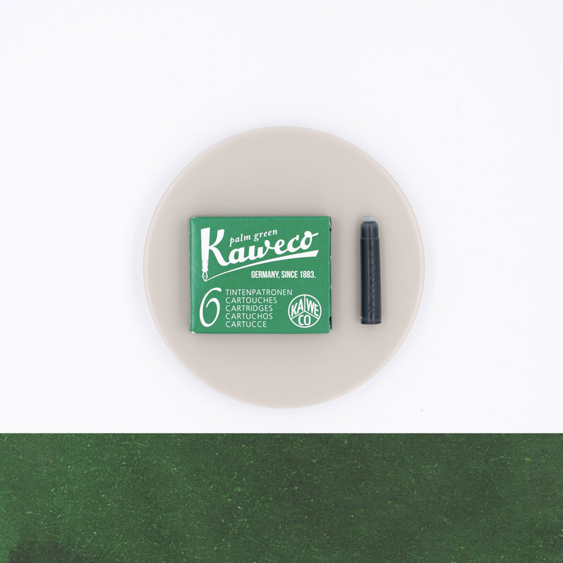 Kaweco Palm Green 6 Ink Cartridges