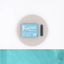 Kaweco Paradise Blue 6 Ink Cartridges
