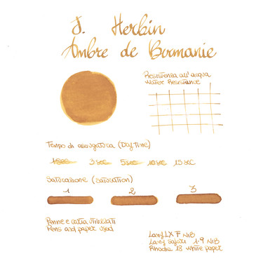 Herbin Ambre de Birmanie 6 Ink Cartridges