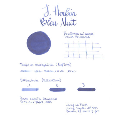 Herbin Bleu Nuit 6 Ink Cartridges