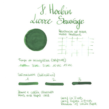 Herbin Lierre Sauvage 6 Ink Cartridges