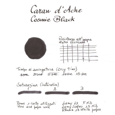 Caran d'Ache Cosmic Black 6 Ink Cartridges