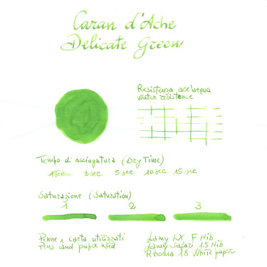 Caran d'Ache Delicate Green 6 Ink Cartridges