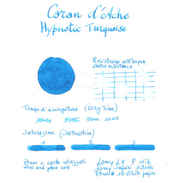 Caran d'Ache Hypnotic Turquoise 6 Ink Cartridges