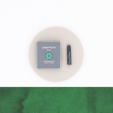 Caran d'Ache Vibrant Green 6 Ink Cartridges
