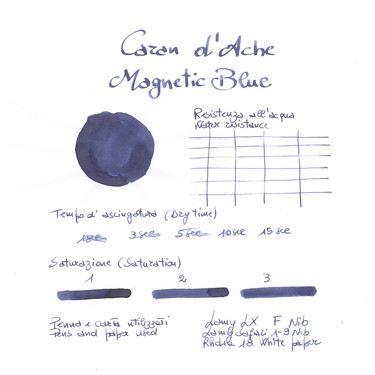 Caran d'Ache Magnetic Blue 6 Ink Cartridges