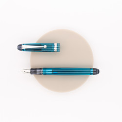 Pilot Custom 74 Fountain Pen Transparent Turquoise Green