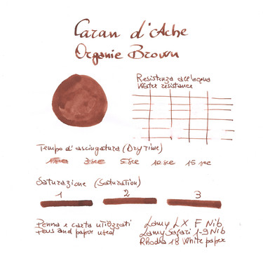 Caran d'Ache Organic Brown 6 Ink Cartridges